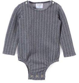 Kipp grey pinstripe onesie set