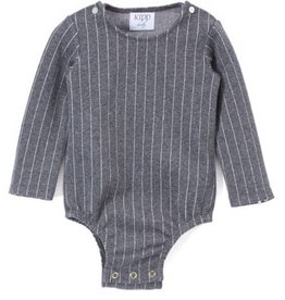 Kipp thin grey stripe onesie