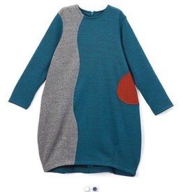 kipp Kipp Teal/Grey Dress