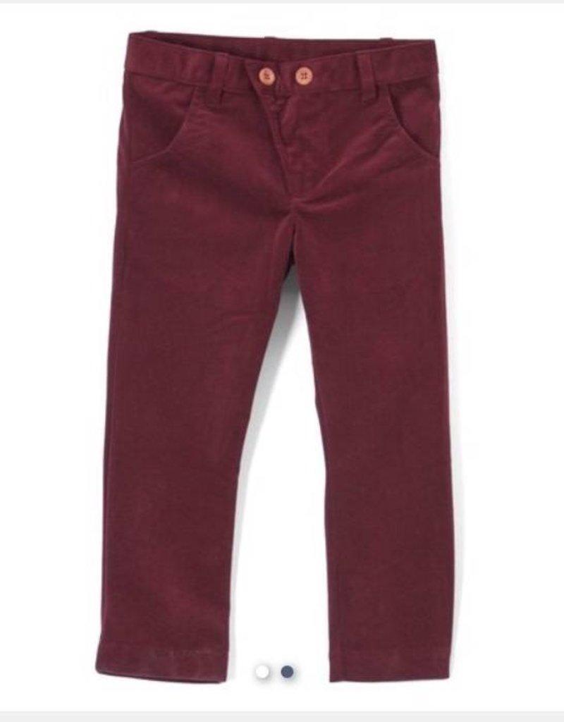 kipp Maroon Velvet Pants