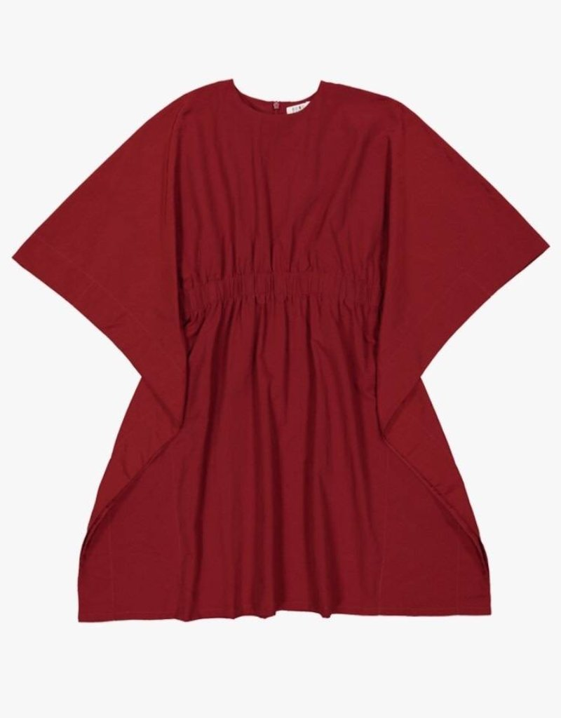 cocoblanc boxy dress deep red