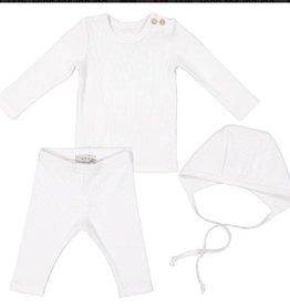 Lil Leggs3pc baby white
