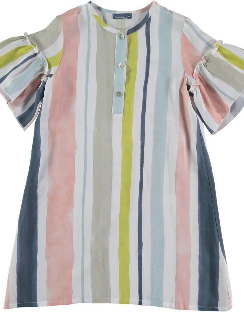 Tarantela Tarantela soft stripe dress