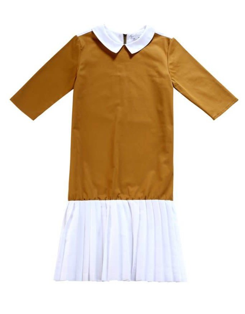 Petit clair Petit clair teens caramel dress