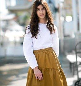 Petit clair petit clair asymmetrical caramel skirt
