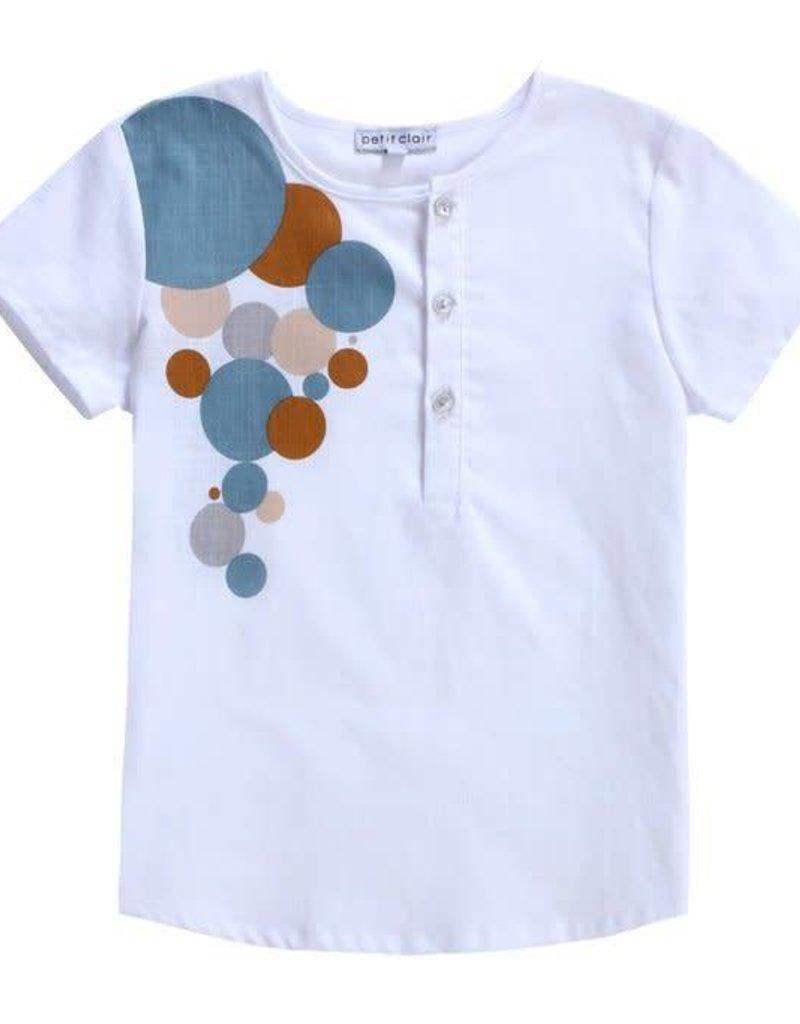 Petit clair Petit clair caramel and blue circles