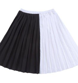Petit clair petit clair black & white contrast skirt