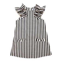 Moque moque black striped dress
