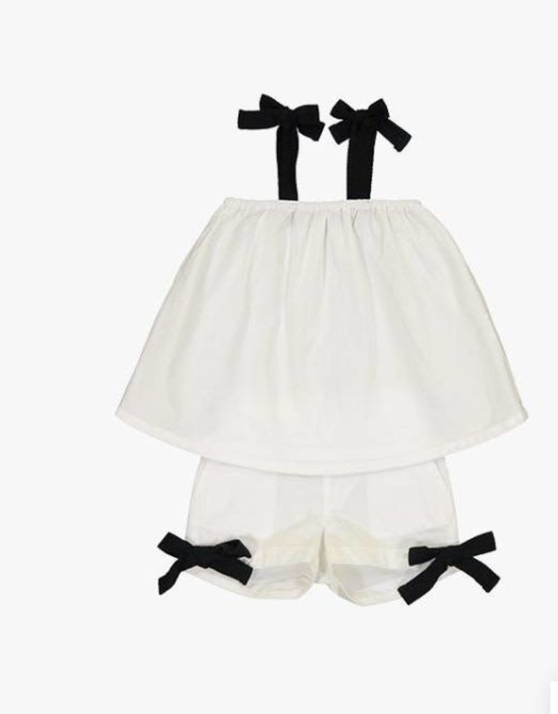 cocoblanc girls two pc swing white/black