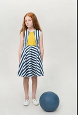 motoreta blue & white Vega dress