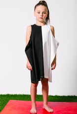 kipp kipp black & white dress