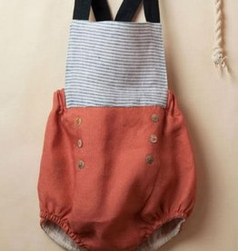 popelin Popelin rust reversible sailor striped dungarees