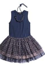 Imoga girls Navy tiered dress