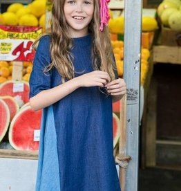 Teela Teela girls denim two tone dress
