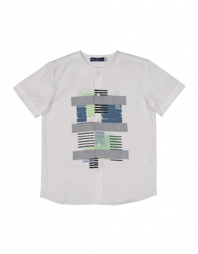 Euro Boys euro boys shirt with geometric