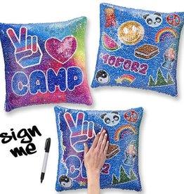 Top Trenz TopTrenz Sequin Pillow