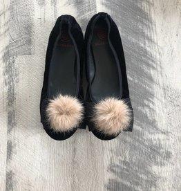 Euro steps Euro Step Black Elastic Fur Bow