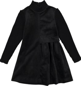nove Nove Black Velvet Dress 608