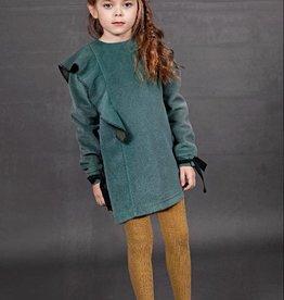 Whitlow & Hawkin Green Ruffle Dress