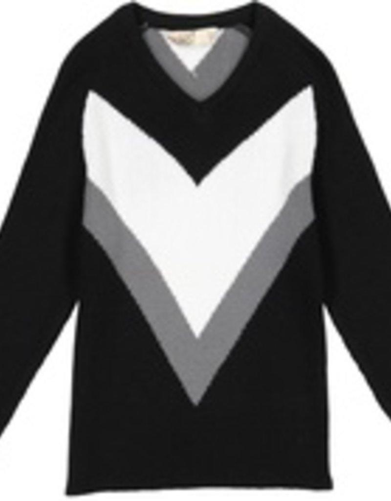nove Nove V Knit Sweater