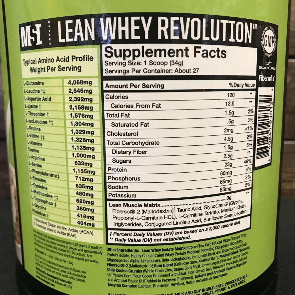 MSI MSI Lean Whey Isolate Protein 2lbs