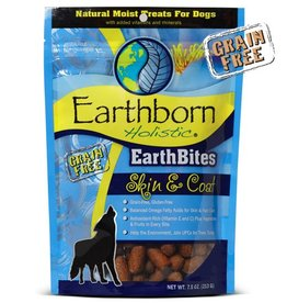 EARTHBORN Earthborn Earthbites Skin & Coat Dog Treats 7.5oz