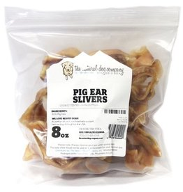 NATURAL DOG COMPANY Natural Dog Co USA Pig Ear Slivers 8oz Bag