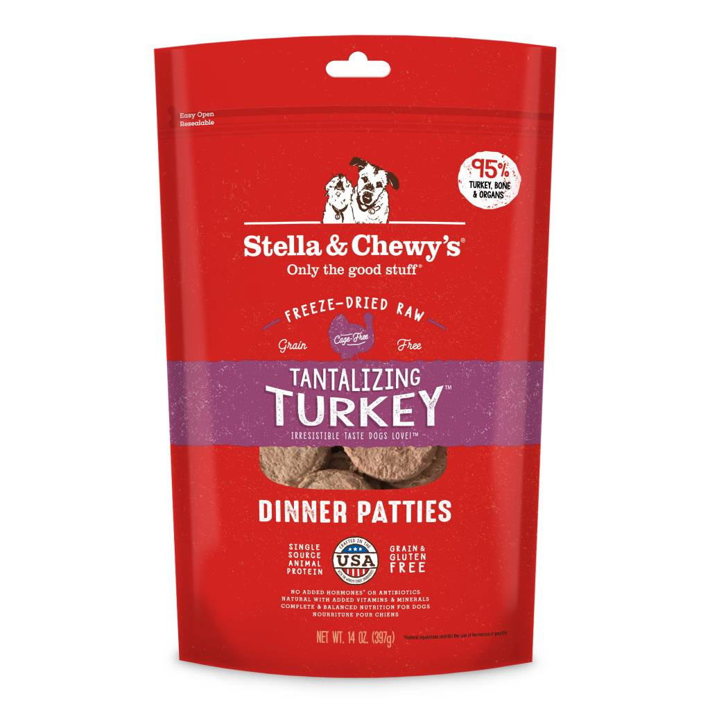 Stella Amp Chewy S Tantalizing Turkey Freeze Dried Patties
