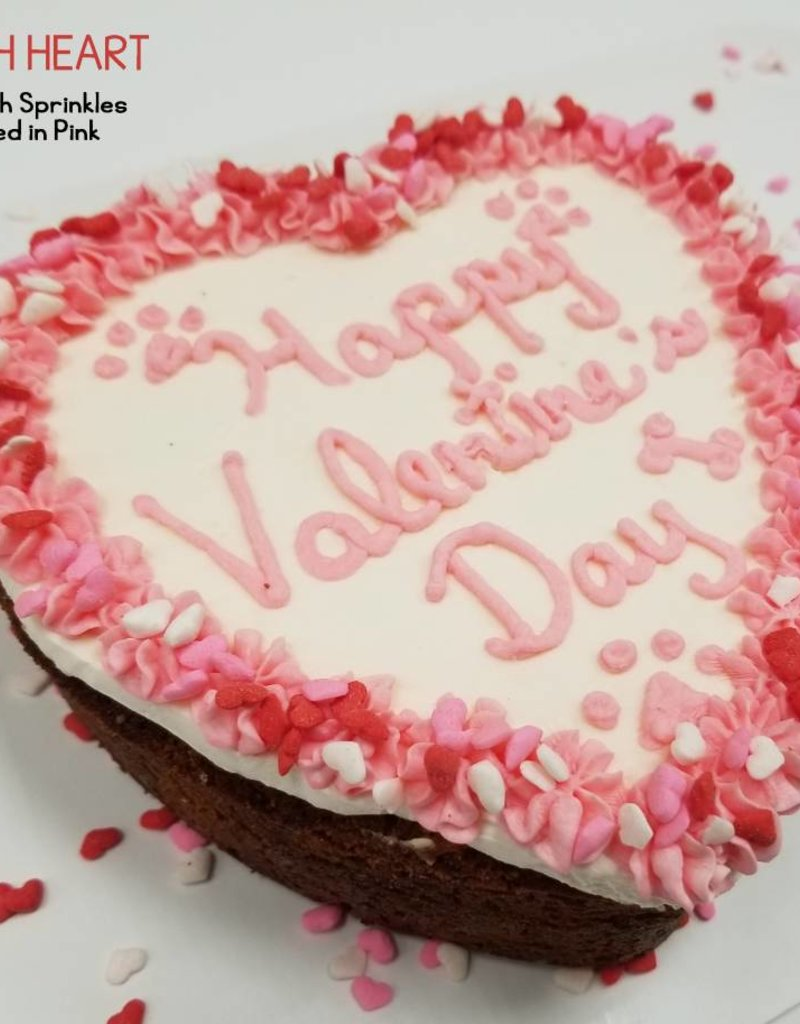 BAG OF BONES BARKERY Valentine's Day Heart Cake