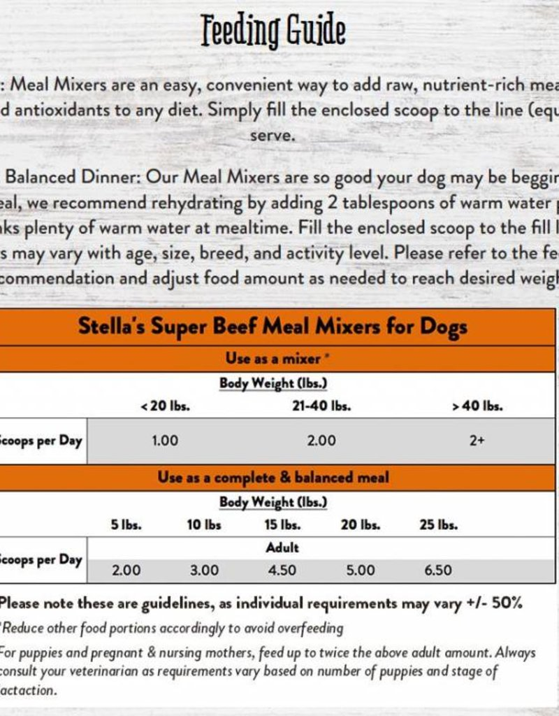 STELLA & CHEWYS Stella & Chewy's Freeze Dried Beef Mixers for Dogs