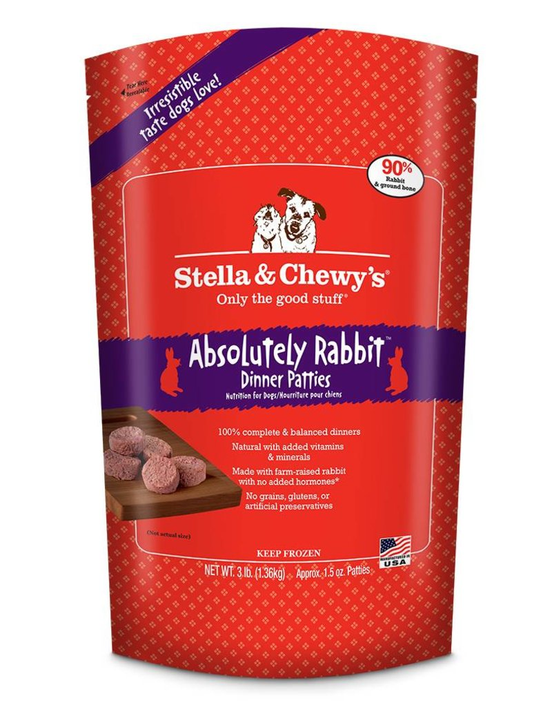 STELLA & CHEWYS Stella & Chewy's Frozen Raw Rabbit Patties for Dogs