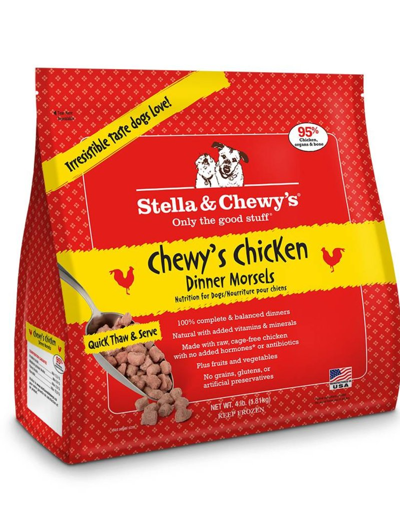 STELLA & CHEWYS Stella & Chewy's Frozen Raw Chicken Morsels for Dogs 4lb