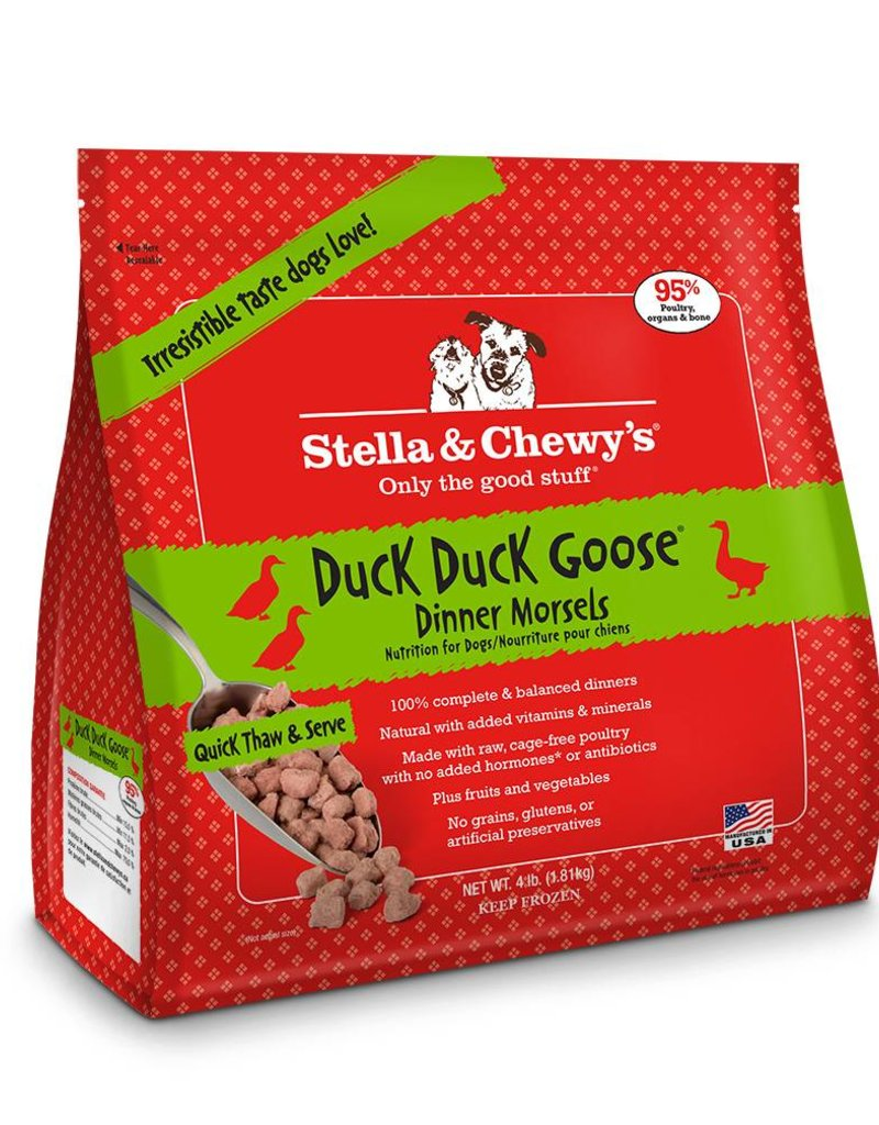 STELLA & CHEWYS Stella & Chewy's Frozen Raw Duck Morsels for Dogs 4lb