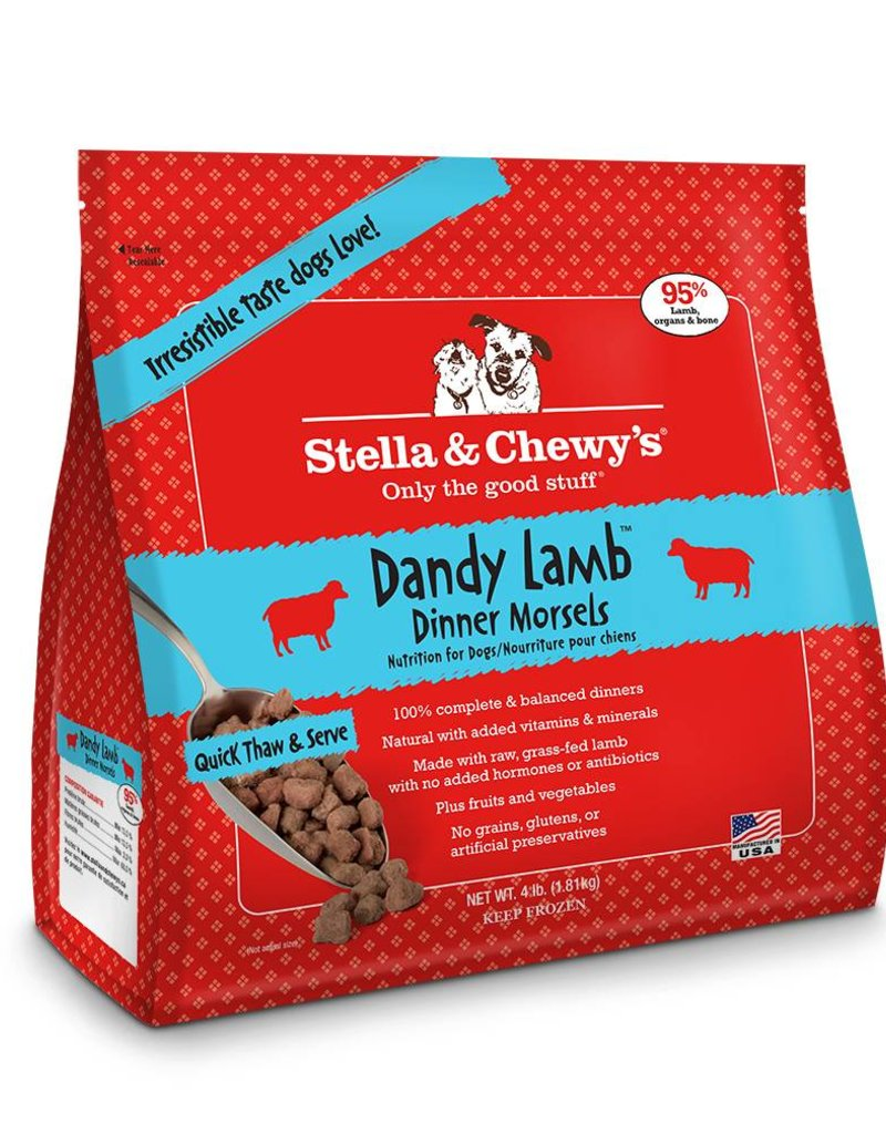 STELLA & CHEWYS Stella & Chewy's Frozen Raw Lamb Morsels for Dogs 4lb