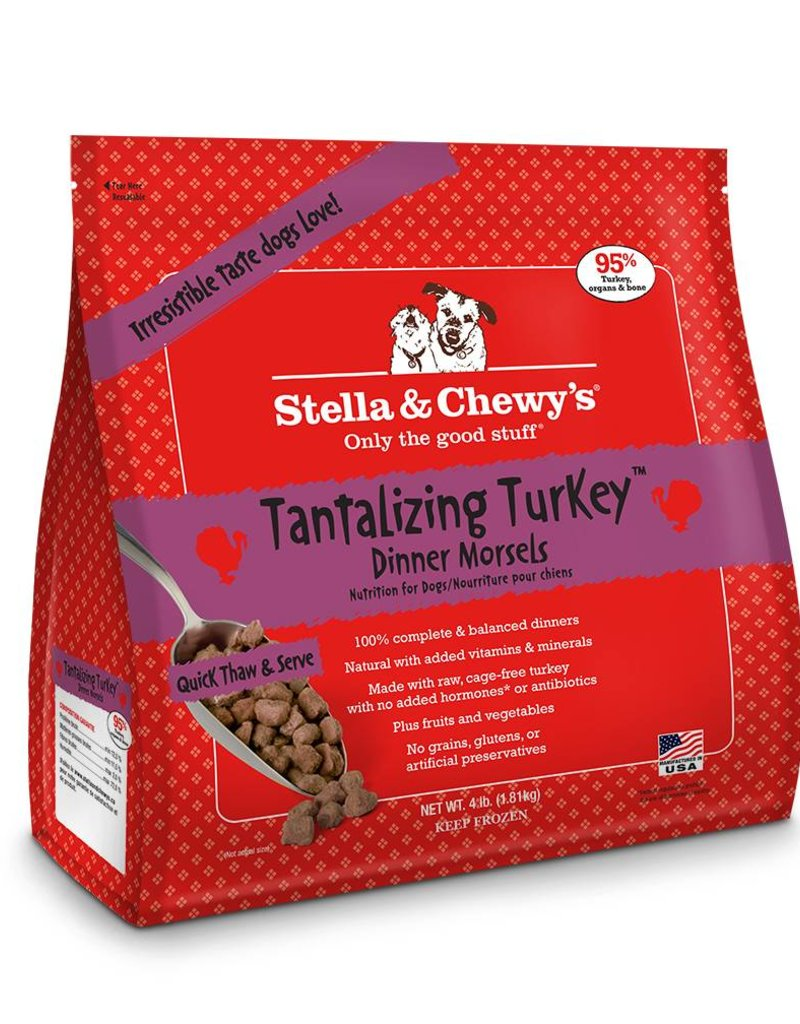 STELLA & CHEWYS Stella & Chewy's Frozen Raw Turkey Morsels for Dogs 4lb