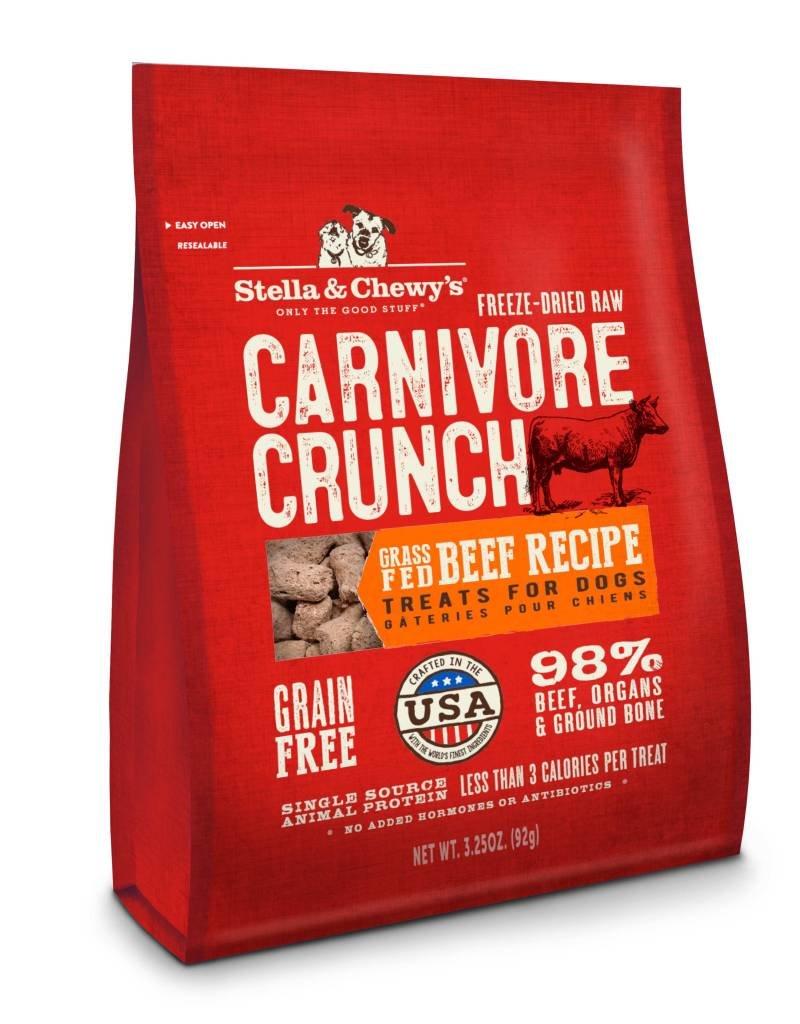 STELLA & CHEWYS Stella & Chewy's Carnivore Crunch Beef 3.25oz