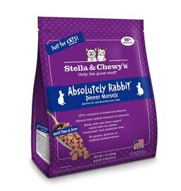 STELLA & CHEWYS Stella & Chewy's Frozen Raw Rabbit Morsels for Cats 1lb
