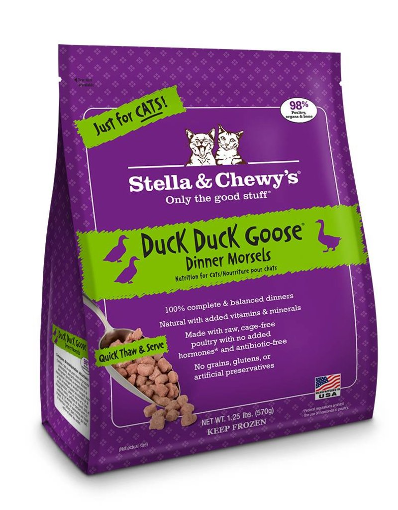 STELLA & CHEWYS Stella & Chewy's Frozen Raw Duck Morsels for Cats 1.25lb