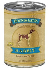 HOUND & GATOS Hound & Gatos 98% USA Rabbit 13oz Canned Dog Food (Case of 12)