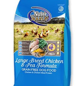 NUTRISOURCE Nutrisource Grain Free Chicken & Pea Large Breed Dog Food 30lb
