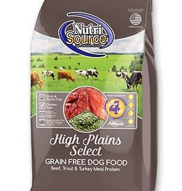NUTRISOURCE Nutrisource Grain Free High Plains Select Dog Food