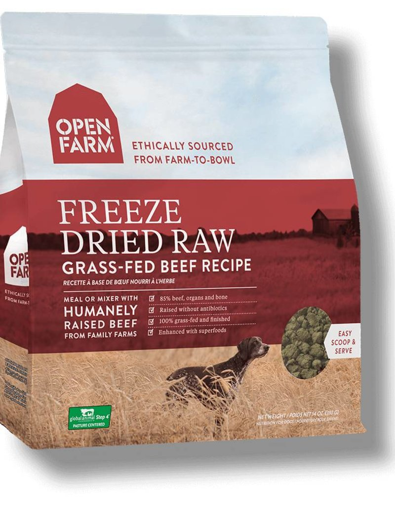 OPEN FARM Open Farm Dog Freeze Dried Beef  Recipe 13.5oz