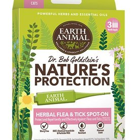 EARTH ANIMAL Earth Animal Herbal Flea & Tick Spot-on for Cats