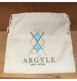 Argyle Yarn Shop drawstring project bag