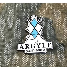 Argyle Yarn Shop enamel pin