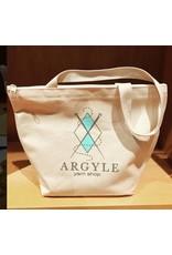 Argyle Yarn Shop three-pocket zippered tote bag