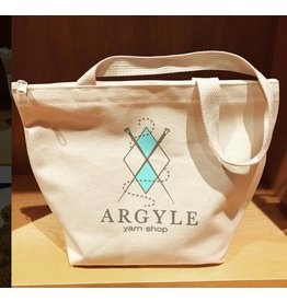 Argyle Yarn Shop three-pocket zippered tote bag