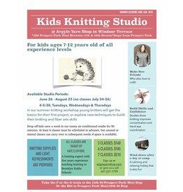 Kids Knitting Studio 7 Sessions