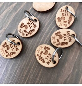 BKLYN KAL single ring stitch marker by Katrinkles - BKAL
