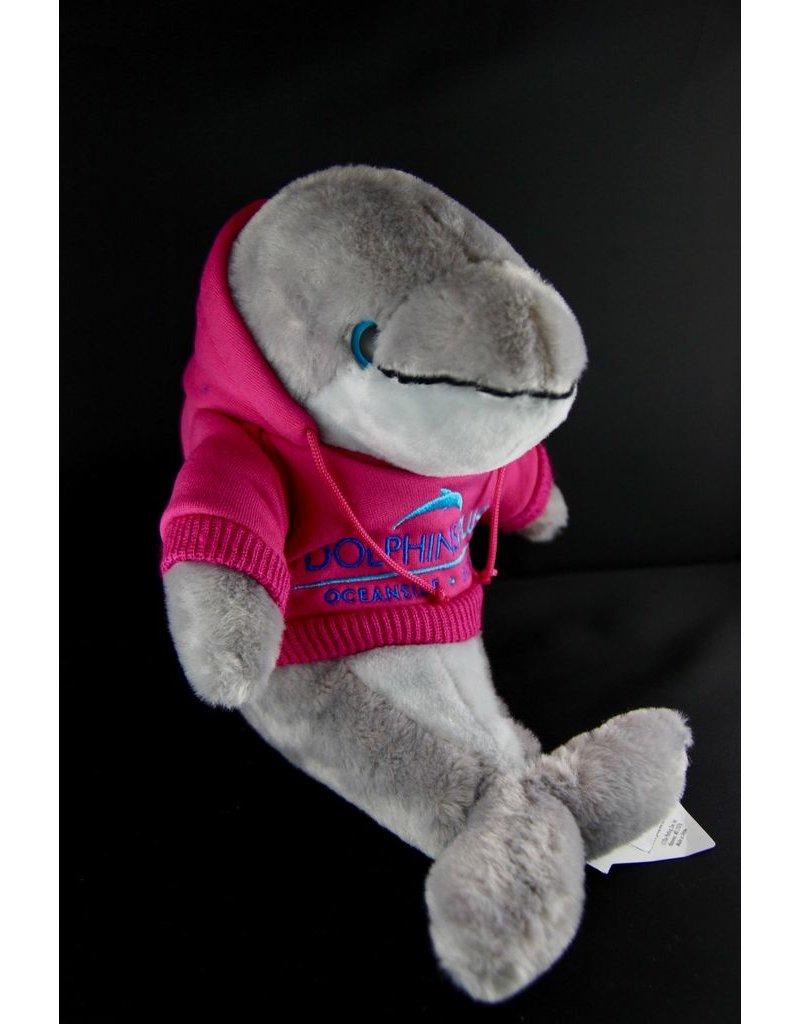 Toys & Plush Hoodie Dolphin-Raspberry with Blue Logo